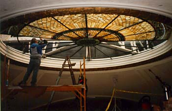 installing the courtroom skylight